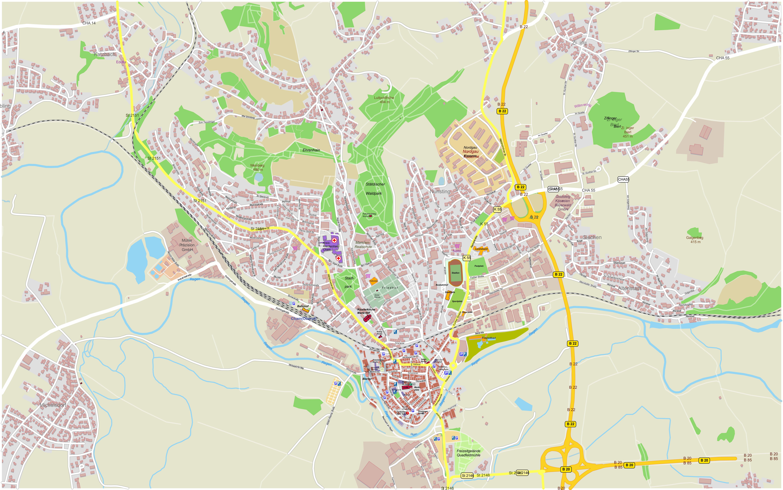 Cham Stadtplan